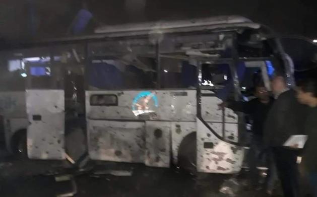 انفجار اتوبوس گردشگران در مصر، 15 کشته و زخمی تا این لحظه
