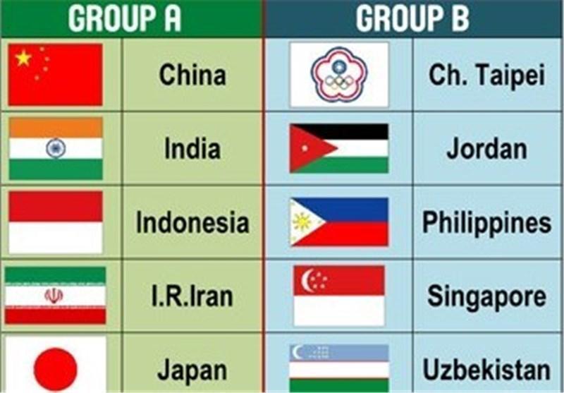 ایران با چین، ژاپن، هـند و اندونزی هم گروه شد
