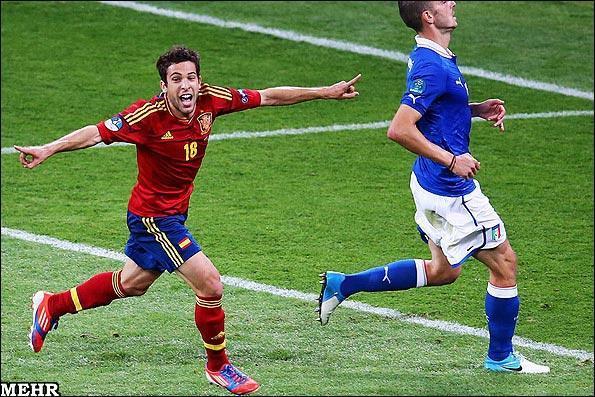 قهرمانی اسپانیا با پیروزی پرگل برابر ایتالیا