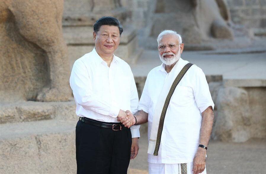 دیدارشی جین پینگ رییس جمهوری چین با نخست وزیرهند
