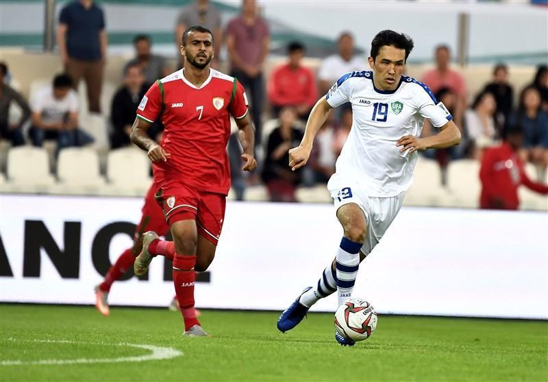 جام ملت های آسیا، پیروزی یک نیمه ای ازبکستان مقابل عمان