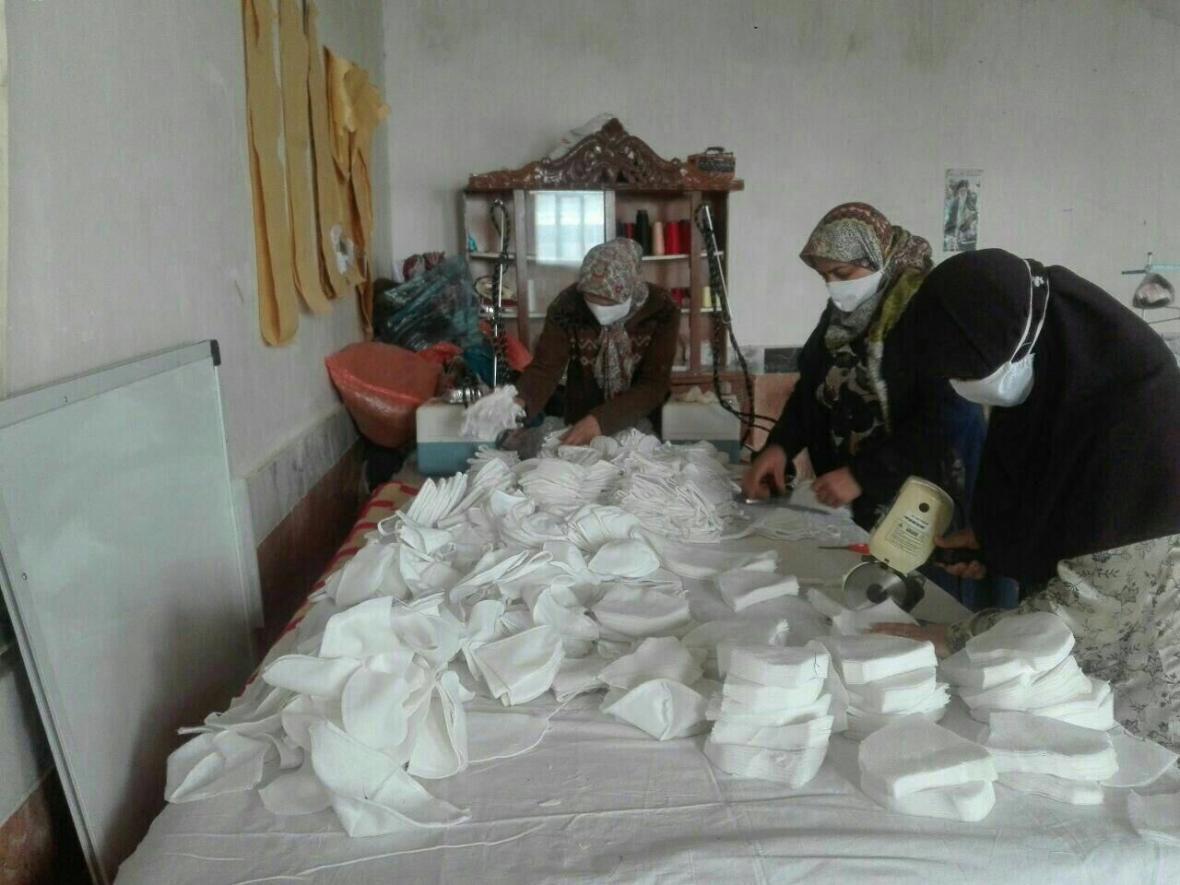 خبرنگاران 4800 عدد ماسک در مناطق روستایی بوکان تولید شد