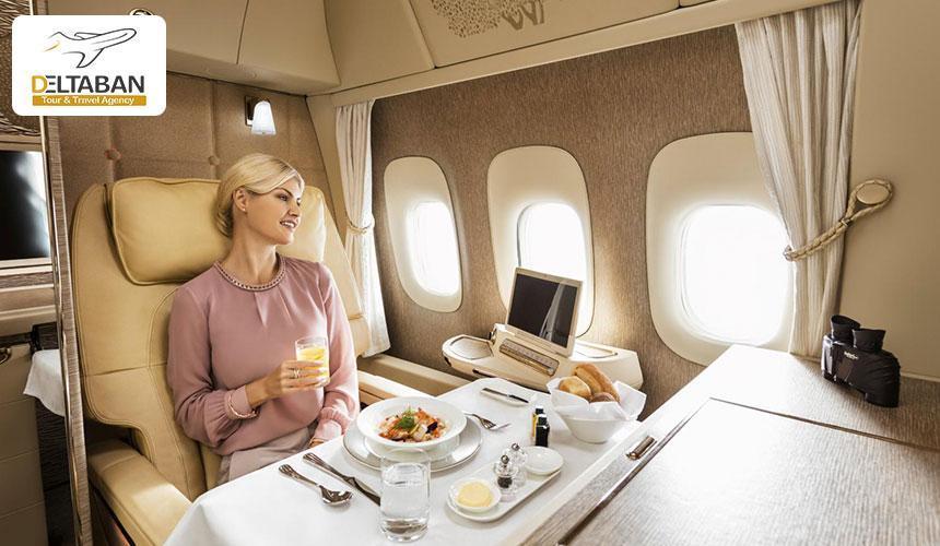 درباره پرواز بیزینس کلاس هواپیمایی امارات بیشتر بدانید