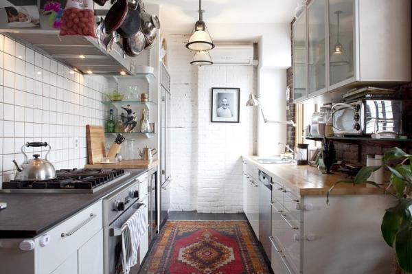 20 ترفند برای بزرگ تر نشان دادن آشپزخانه های کوچک