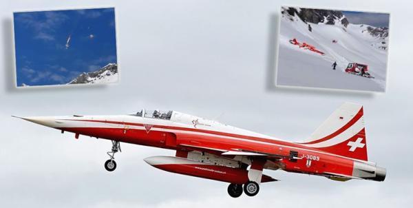 سقوط جنگنده اف-5 تایگر نیروی هوایی سوئیس