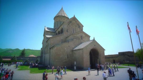 کارت پستال از گرجستان؛ کلیسای جامع ستون زنده