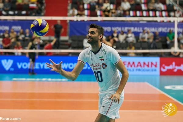 رونمایی از بازیکن نو والیبال ایران مقابل فرانسه